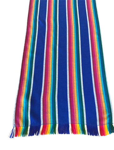 Mexican Table Runner Navy Stripes