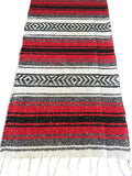 Mexican Rustic red table runner made from Falsa blankets