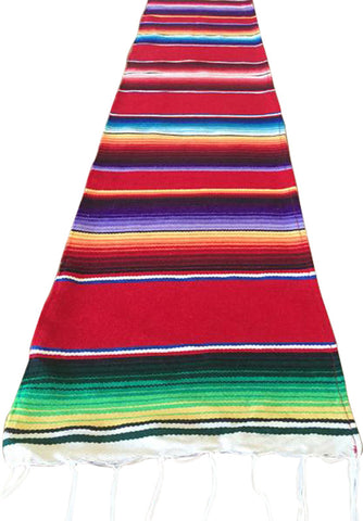 "Southwestern Mexican Serape Red 68"" Table Runner"