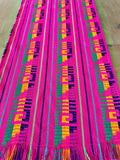 Mexican Fabric Table Runner or Tablecloth Bohemian pink