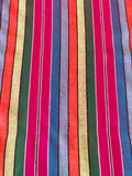 Mexican Fabric Table Runner -rainbow stripes