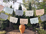 Papel Picado banner - muted pastel colors