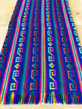 Mexican Fabric Table Runner or Tablecloth tribal blue