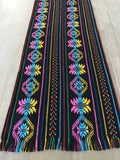Mexican Table Runner Woven Colorful black design - MesaChic - 3