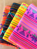Mexican Table Runner Woven Colorful black design - MesaChic - 4