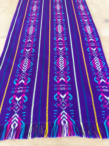 Mexican Fabric Table Runner - Bright purple