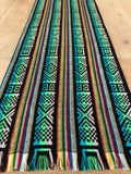 Mexican Fabric Table Runner - Tribal black
