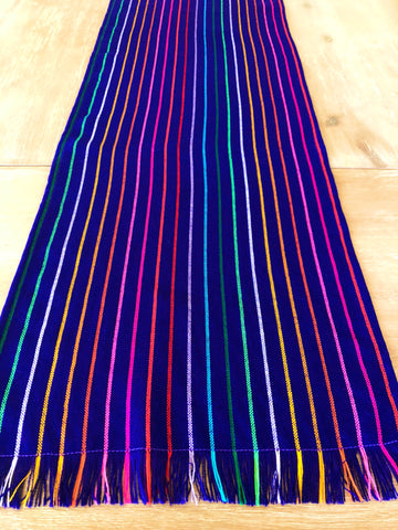 Mexican Fabric Table Runner - Striped purple