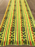 Mexican Fabric Table Runner - Light yellow