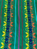 Mexican fabric Table Runner Pine green