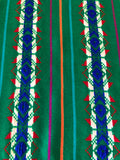 Mexican Fabric Table Runner - Flag green