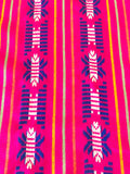 Mexican Fabric Table Runner or Tablecloth Hot pink