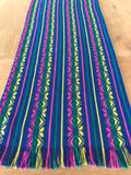 Mexican Fabric Table Runner or Tablecloth - blue