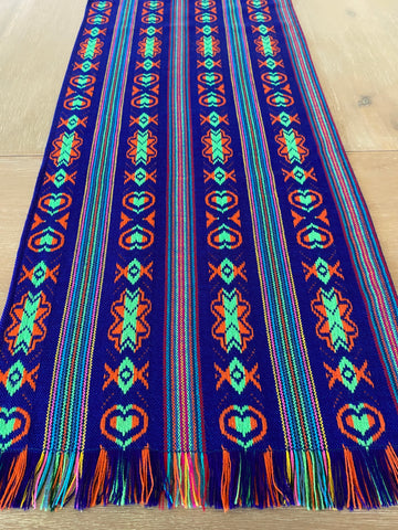 Mexican Fabric Table Runner - Purple