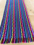 Mexican Fabric Table Runner or Tablecloth -blue