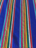 Mexican fabric Table Runner Colorful Blue stripes - MesaChic - 2