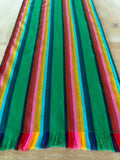Mexican Fabric Table Runner -green striped