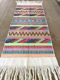 Bohemian table runner with fringes