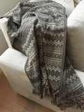 Handwoven Mexican Blanket or throw -Lightweight - MesaChic - 1