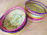 Straw woven Decorative Basket from Mexico - MesaChic - 2