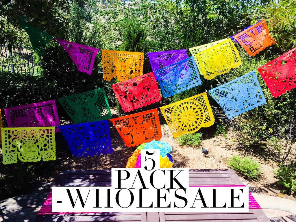 Wholesale Papel Picado 5 Pack Mexican Banner Mesachic