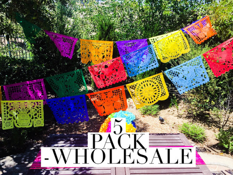 Wholesale Papel Picado Banner, 5 pack Large - MesaChic - 4
