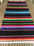 "Black Southwestern Serape 68"" Table Runner - MesaChic - 2"