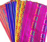 Mexican Fabric napkins, Bulk Set of 6 tribal assorted colors - MesaChic - 1