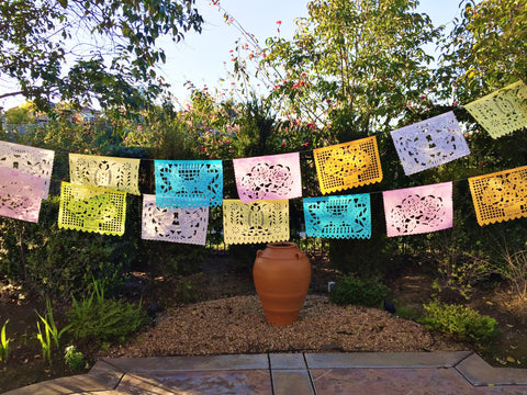 Papel Picado banner Pastel colors bunting - MesaChic - 1