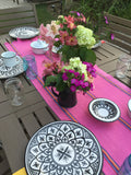 Mexican pink jerga table runner - MesaChic - 2
