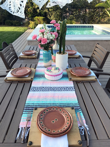Wondrous Mexican Falsa Table Runner Pastel Colors Download Free Architecture Designs Intelgarnamadebymaigaardcom
