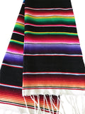 "Black Southwestern Serape 68"" Table Runner - MesaChic - 1"
