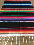 "Black Southwestern Serape 68"" Table Runner - MesaChic - 4"