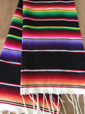 "Black Southwestern Serape 68"" Table Runner - MesaChic - 3"