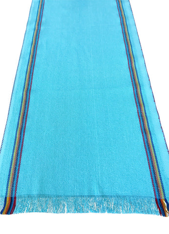 Mexican Turquoise Jerga Table Runner