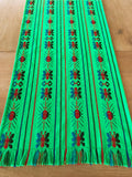 Mexican Fabric Table Runner - Lime green