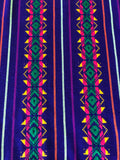 Mexican Fabric Table Runner - Dark purple