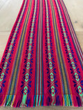 Mexican Fabric Table Runner - Raspberry pink