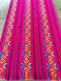 Mexican Fabric Table Runner - star pink
