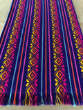 Mexican Fabric Table Runner -deep purple