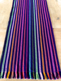 Mexican Table Runner Purple Stripes
