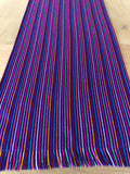 Mexican Fiesta Table Runner or Tablecloth -Purple striped