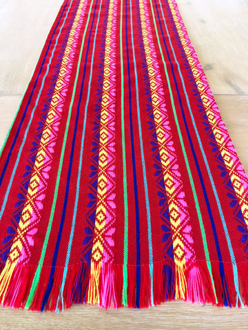 Mexican Fabric Table Runner - Fiesta Red