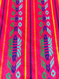 Mexican Fabric Table Runner - Pink/Teal