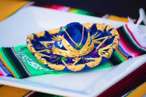 "Mexican Mini Sombrero 4"" traditional hat"