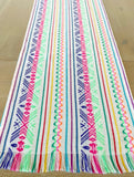 Mexican Fabric Table Runner - BESTSELLER white