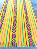 Mexican Fabric Table Runner - bright yellow