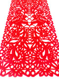 Mexican fabric Table Runner Papel Picado design Red