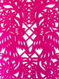 Mexican fabric Table Runner Papel Picado design -hot pink