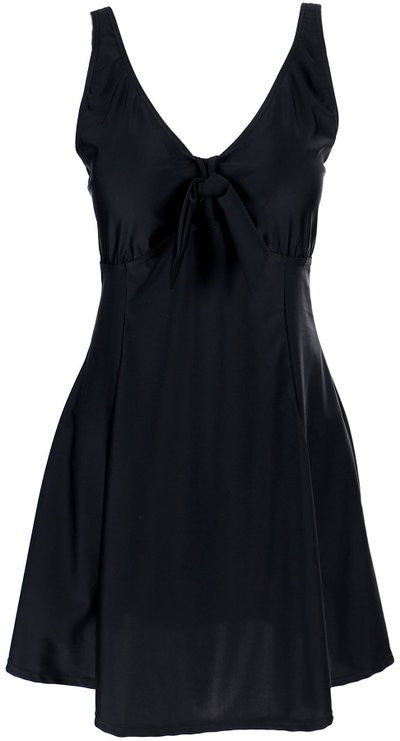 Lovely Plus Black Kitty One Piece Swim Dress